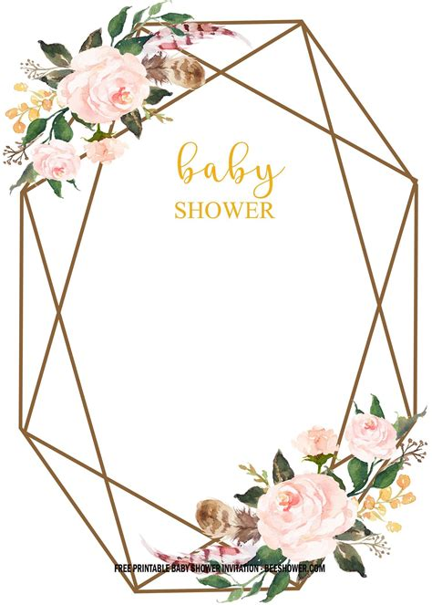 Download FREE Floral Baby Shower Invitation Templates