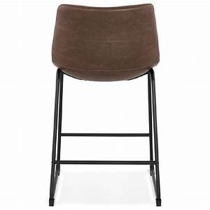 Tabouret De Bar Marron : tabouret de bar chaise de bar mi hauteur vintage joe mini marron ~ Melissatoandfro.com Idées de Décoration