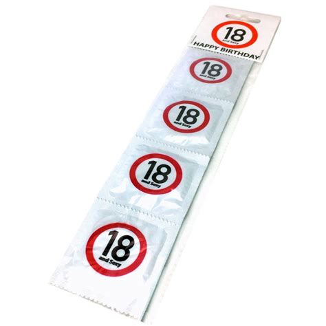 gadget cuisine préservatifs joyeux anniversaire 18 ans x4 à 7 90