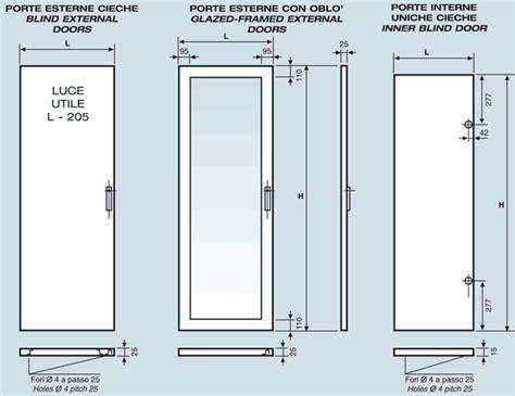 porte interne misure standard porte interne uniche cieche serie 3000 da armadi rack