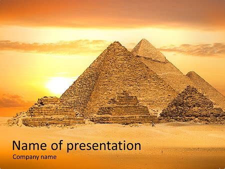 Egypt Templates Powerpoint by Egyptian Pyramids Powerpoint Template Backgrounds Id
