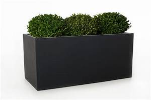 Vivanno blumenkubel pflanztrog fiberglas quotmaxiquot anthrazit for Garten planen mit pflanzkübel 1 meter hoch