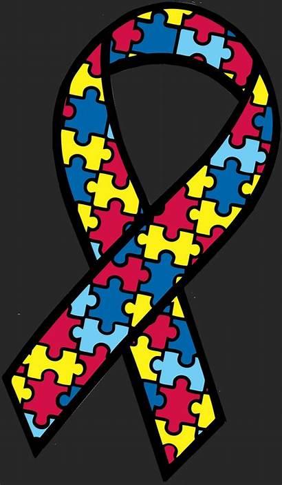 Autism Awareness Ribbon Symbol Clip Vector Coloring