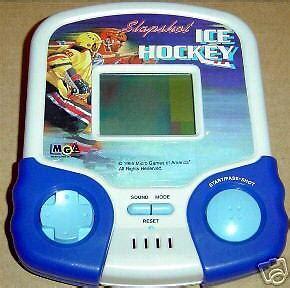 mga handheld slapshot ice hockey electronic arcade