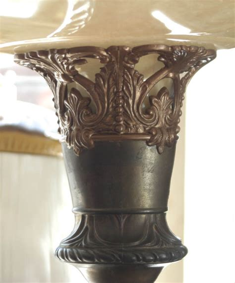 antique floor l shades antique torchiere floor l with glass shade