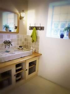 Salle De Bain En L : diy meuble de salle de bain l 39 ancienne rustique passiparisienne ~ Melissatoandfro.com Idées de Décoration