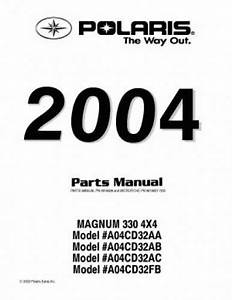 2004 Polaris Magnum 330 4x4 Atv Parts Manual
