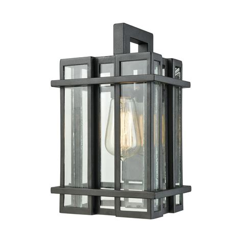 titan lighting glass tower small 1 light matte black with