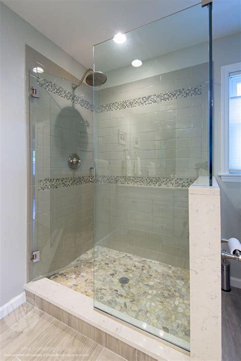 bathroom shower stall designs glass shower stall river rocks frameless glass shower