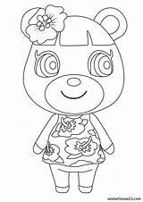Crossing Animal Coloring Characters Pages Villager June Ketchup sketch template