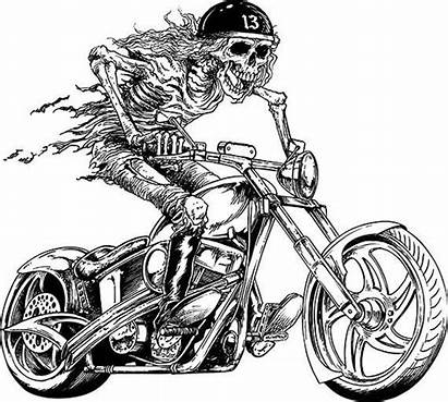 Motorcycle Skull Biker Skeleton Chopper Harley Davidson