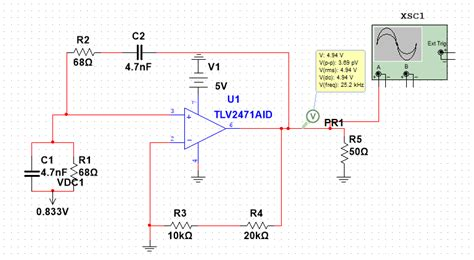 Operational Amplifier Wien Bridge Oscillator Multisim