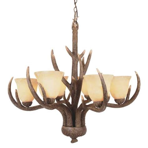 rustic antler six light replica deer antler deer antler