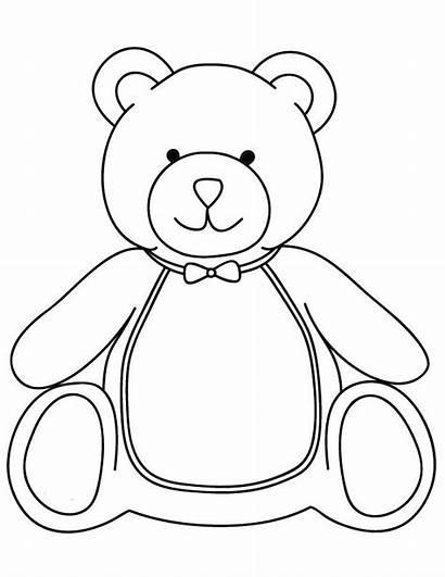 Teddy Bear Coloring Bears Funny Printable Hello