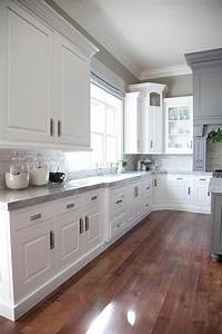 gray and white kitchen design transitional kitchen With kitchen cabinet trends 2018 combined with thin blue line wall art