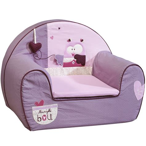 mam zelle bou fauteuil club violet de sauthon baby d 233 co