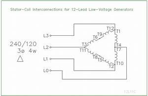 12 Lead Stator Generators Schematics