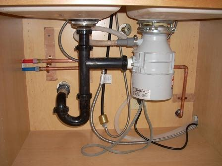 how to do plumbing for kitchen sink garbage disposal hook up diagram garbage get free image 9391