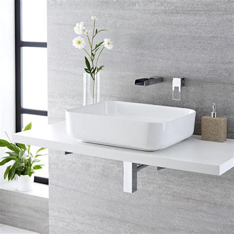 rubinetto per lavabo da appoggio lavabo bagno da appoggio rettangolare in ceramica