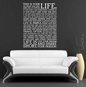 Quote wall stickers for bedrooms : Beautiful designs of wall stickers art decals