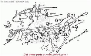 Honda Cx500c Custom 1981  B  France Wire Harness
