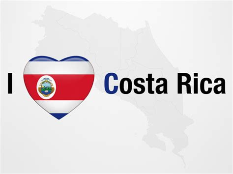 costa rica map template i love costa rica powerpoint map slides i love costa
