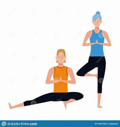 Yoga Poses Couple Vitality
