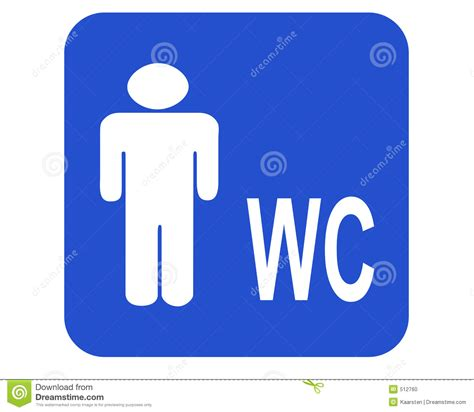 male wc stock illustration illustration  male porta