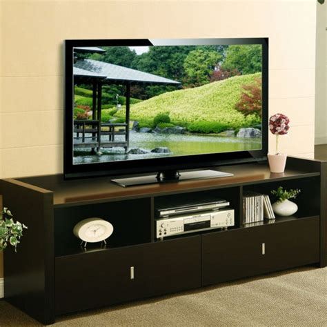 60 inch tv stand 60 inch tv stand media entertainment console table for flat screens tvs espresso ebay