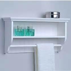 bathroom storage decorative wall shelf with towel bar by