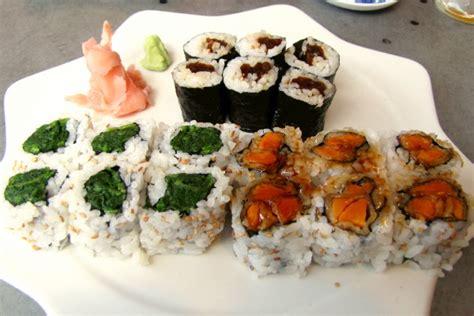cuisine by region photo maki plate spinach squash potato from