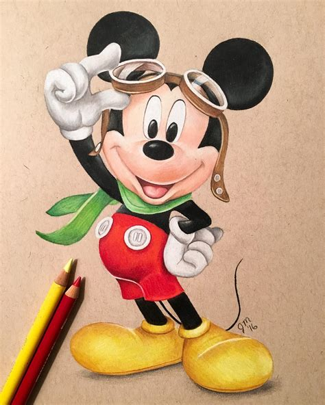 Mickey Mouse Drawing With Color  Opticanovosti #6f0cbe527d71