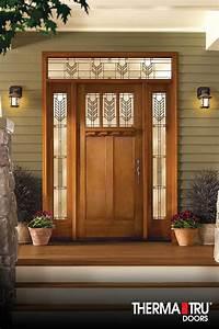 therma tru fiberglass doors Therma-Tru Classic-Craft American Style Collection fiberglass door with Villager decorative ...