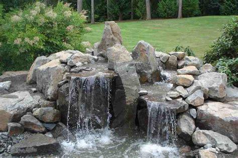 rock garden with waterfall backyard rock waterfalls outdoor furniture design and ideas