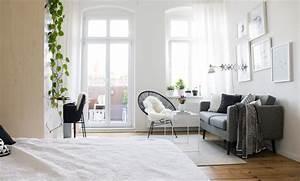 Wohn Schlafzimmer Ideen : wohn schlaf und arbeitsbereich in einem zimmer skandinavisch schlafzimmer berlin von ~ Sanjose-hotels-ca.com Haus und Dekorationen
