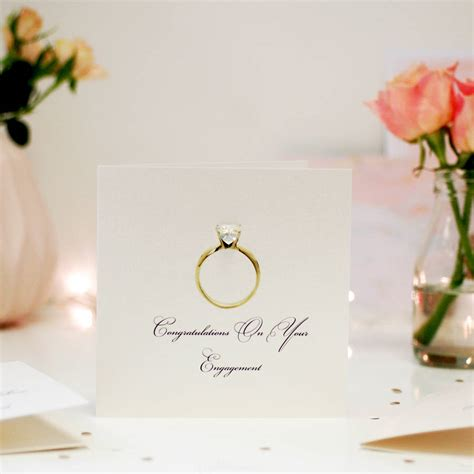 Diamond Ring Personalised Engagement Card By The Luxe Co