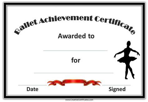 dance certificate template customizable  printable