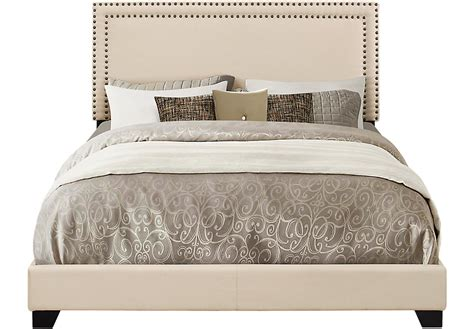 melina cream king upholstered bed king beds colors