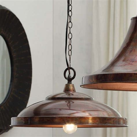 copper finish domed pendant l eclectic pendant