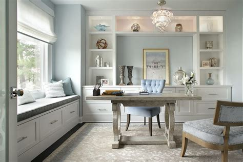Modern Wall Shelving Home Office Transitional With Sheer