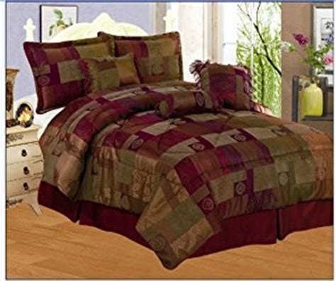 amazon com 7 pieces sage green burgundy gold and