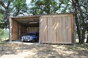 construire un abri avec du bois de recup bricolage avec With fabriquer un garage en bois