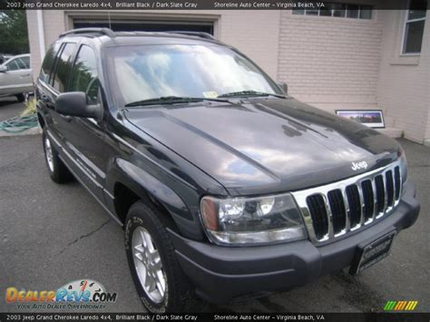 dark gray jeep grand cherokee 2003 jeep grand cherokee laredo 4x4 brilliant black dark