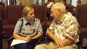 Vincent JROTC cadet interviews WWII vet | Shelby County ...