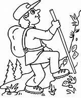 Coloring Estate Montanhista Mountain Camping Mountains Hiking Kolorowanka Cartoon Colorir Gory Tudodesenhos Desenho Montanha Druku Kolorowanki Printable Natura Imprimir Colorare sketch template