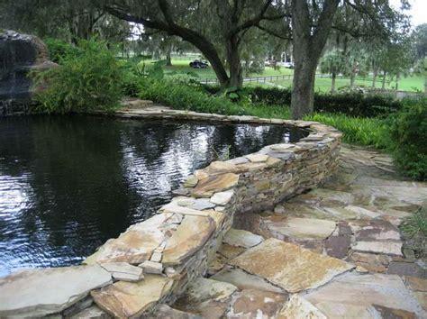 retaining wall tree retaining wall   build  retaining wall  pond  trees