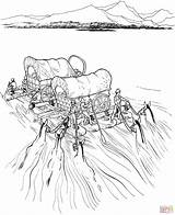 Coloring Wagon Covered River Raft Wagons Settlers Pioneer Printable Navigate Supercoloring Trail Frontier Sheets Westward Expansion Drawing Colouring Oregon Activity sketch template