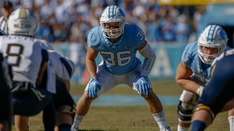 report saints tar heels linebacker cole holcomb  pre