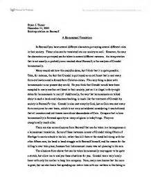 Beowulf resume assignment