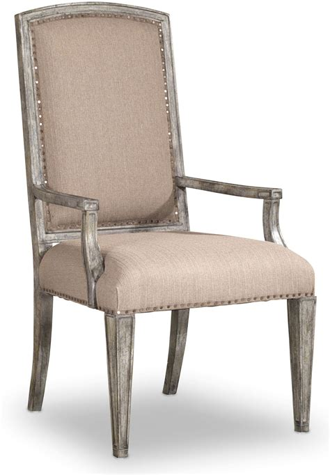 true vintage beige upholstered arm chair set of 2 5701